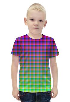 """Футболка с полной запечаткой для мальчиков """"Optical Illusion"""" - арт, стиль, дизайн, графика, абстракция"""