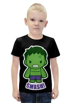 """Футболка с полной запечаткой для мальчиков """"Халк (Hulk)"""" - hulk, халк"""