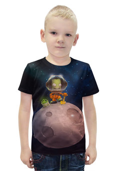 """Футболка с полной запечаткой для мальчиков """"Kerbal Space Program"""" - арт, kerbal space program"""