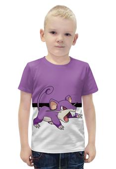 """Футболка с полной запечаткой для мальчиков """"PoKeMon Rattata"""" - pokemon, покемон, rattata, раттата"""