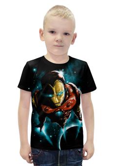 """Футболка с полной запечаткой для мальчиков """"Железный человек"""" - комиксы, супергерои, абстракция, iron man, железеый человек"""