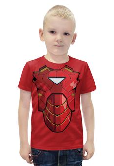 """Футболка с полной запечаткой для мальчиков """"Ironman / Железный человек"""" - арт, marvel, avengers, ironman"""