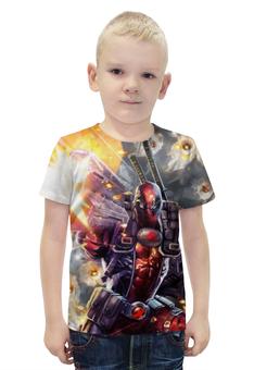 """Футболка с полной запечаткой для мальчиков """"Deadpool"""" - супергерой, дэдпул, экшен"""