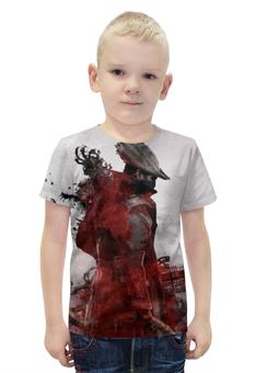 """Футболка с полной запечаткой для мальчиков """" Bloodborne"""" - охотник, bloodborne"""
