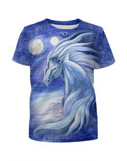"""Футболка с полной запечаткой для мальчиков """"Сны Архинджара"""" - арт, авторские майки, лошадь, животное"""