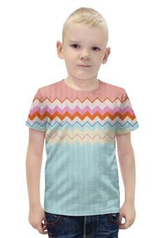 """Футболка с полной запечаткой для мальчиков """"СВИТЕР"""" - дизайн, абстракция, свитер, линии"""