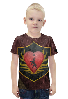 """Футболка с полной запечаткой для мальчиков """" Game of Thrones, Stannis Baratheon,"""" - игра престолов, game of thrones, дом баратеонов, stannis baratheon"""