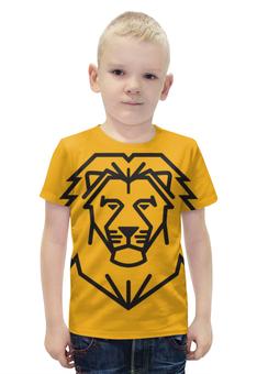 """Футболка с полной запечаткой для мальчиков """"Лев. Стилизация"""" - лев, рисунок, графика, стилизация"""