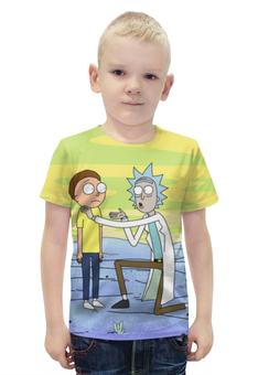 """Футболка с полной запечаткой для мальчиков """"Рик и Морти (Rick and Morty)"""" - rick and morty, рик и морти"""