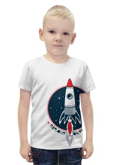 """Футболка с полной запечаткой для мальчиков """"Ракета"""" - комиксы, космос, ракета"""