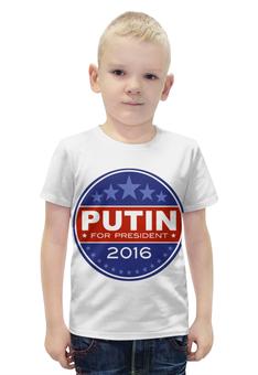 """Футболка с полной запечаткой для мальчиков """"Путин президент Америки (2016)"""" - путин, putin"""