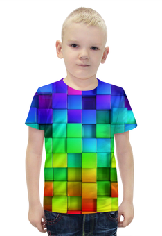 """Футболка с полной запечаткой для мальчиков """"Colorful"""" - арт, стиль, дизайн, графика, абстракция"""