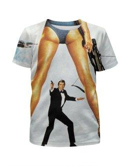 """Футболка с полной запечаткой для мальчиков """"Джеймс Бонд"""" - 007, james bond, агент 007, джеймс бонд"""