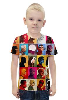 """Футболка с полной запечаткой для мальчиков """"Heros Marvel ARSB"""" - комиксы, deadpool, iron man"""