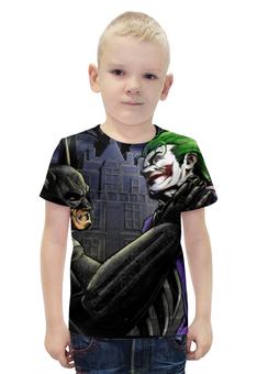 """Футболка с полной запечаткой для мальчиков """"Бэтмен и Джокер"""" - joker, batman"""