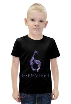 """Футболка с полной запечаткой для мальчиков """"Resident Evil 6"""" - игра, обитель зла, resident evil, umbrella, re"""