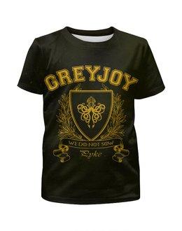"""Футболка с полной запечаткой для мальчиков """"Игра Престолов. Дом Грейджоев"""" - игра престолов, game of thrones, грейджои, house greyjoy, дом грейджоев"""