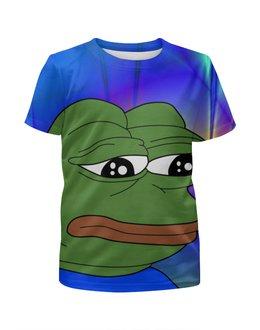 """Футболка с полной запечаткой для мальчиков """"SAD FROG"""" - мем, meme, грустная лягушка, sad frog, pepe frog"""