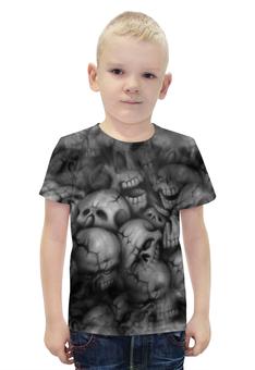 """Футболка с полной запечаткой для мальчиков """"Черепа"""" - череп, кости, смерть, ужасы, мистика"""