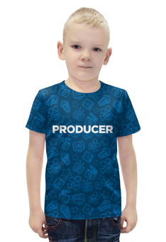"""Футболка с полной запечаткой для мальчиков """"Producer (продюсер)"""" - музыка, кино, продюсер, режиссер, producer"""