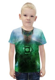 """Футболка с полной запечаткой для мальчиков """"Зеленый Фонарь"""" - green lantern"""