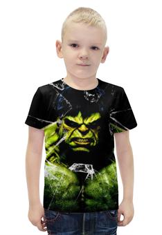 """Футболка с полной запечаткой для мальчиков """"Халк (Мстители)"""" - hulk, мстители, халк"""