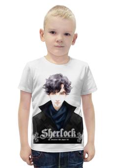 """Футболка с полной запечаткой для мальчиков """"Sherlock Holmes"""" - новый год, sherlock, шерлок, 2016, бенедикт камбербэтч шерлок холмс"""