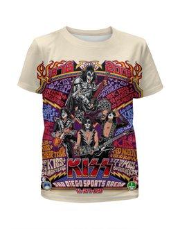 "Футболка с полной запечаткой для мальчиков ""Kiss Band"" - kiss, heavy metal, hard rock, рок музыка, кисс"