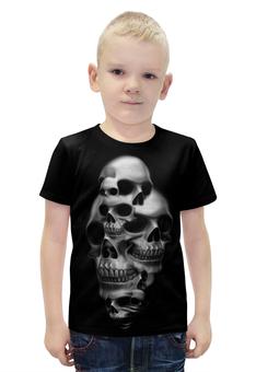 """Футболка с полной запечаткой для мальчиков """"Skull Art"""" - skull, череп, арт, черепа, рисунок"""