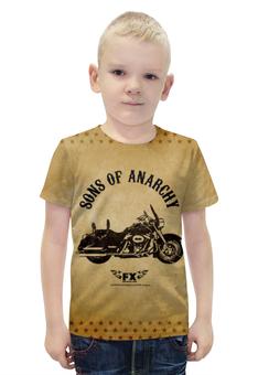 """Футболка с полной запечаткой для мальчиков """"Сыны Анархии"""" - sons of anarchy, сыны анархии"""