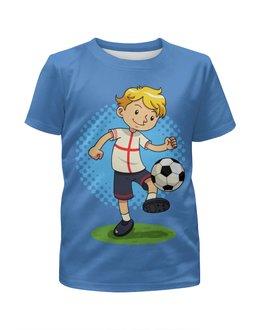 """Футболка с полной запечаткой для мальчиков """"Футбол"""" - футбол, футболист, мяч, спорт"""
