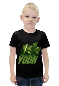 """Футболка с полной запечаткой для мальчиков """"Звёздные войны. Мастер Йода."""" - кино, фантастика, yoda, звёздные войны, мастер йода"""