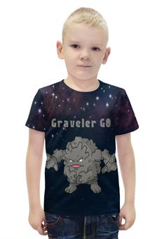 """Футболка с полной запечаткой для мальчиков """"Покемон Гравелер"""" - pokemon, покемон, каменный, гравелер, graveler"""