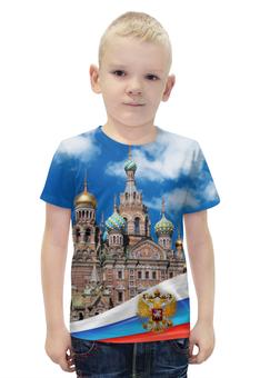 """Футболка с полной запечаткой для мальчиков """"Санкт-Петербург"""" - питер, россия, санкт-петербург"""