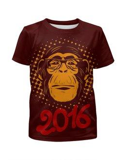"""Футболка с полной запечаткой для мальчиков """"Год Обезьяны"""" - новый год, обезьяна, monkey, 2016, год обезьяны"""