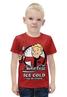 """Футболка с полной запечаткой для мальчиков """"Fallout"""" - fallout, vault boy, фаллаут, nuka cola, нука кола"""