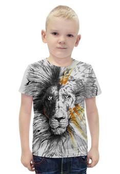 """Футболка с полной запечаткой для мальчиков """"the Lion"""" - животные, лев, lion, animals"""