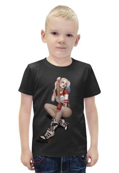 """Футболка с полной запечаткой для мальчиков """"Harley Quinn"""" - харли квинн, suicide squad"""