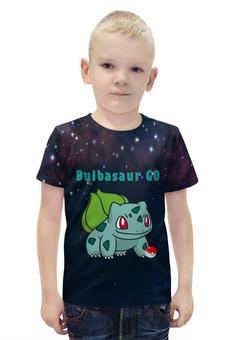 """Футболка с полной запечаткой для мальчиков """"PoKeMon  Bulbasaur"""" - pokemon, покемон, bulbasaur, бульбазавр, травяной"""