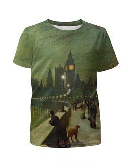 """Футболка с полной запечаткой для мальчиков """"Вечерний Лондон"""" - арт, страны, город, лондон, англия"""