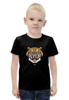 """Футболка с полной запечаткой для мальчиков """"Охрана-Тигр"""" - охранник, тигр, охрана"""