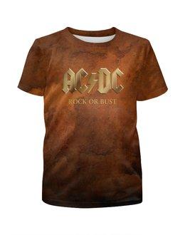 """Футболка с полной запечаткой для мальчиков """"AC/DC"""" - music, rock, золото, кумиры, асдс"""