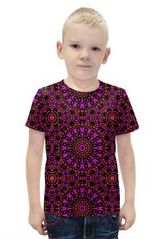 """Футболка с полной запечаткой для мальчиков """"purple"""" - арт, узор, фиолетовый, абстракция, фигуры"""