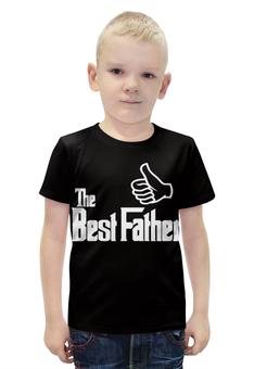 """Футболка с полной запечаткой для мальчиков """"Лучший Отец"""" - папа, отец, father, батя"""
