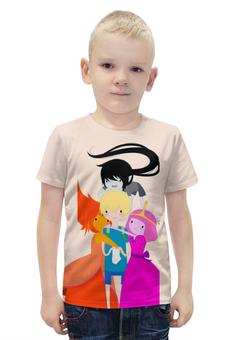 """Футболка с полной запечаткой для мальчиков """"Время приключений / Adventure Time"""" - мультфильм, рисунок, время приключений"""