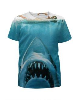 """Футболка с полной запечаткой для мальчиков """"Челюсти (Акула)"""" - челюсти, акула, shark, jaws"""