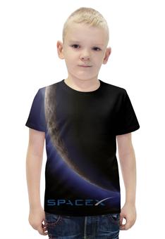 """Футболка с полной запечаткой для мальчиков """"SpaceX. Dragon"""" - космос, вселенная, thespaceway, spacex, маск"""