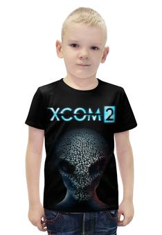 """Футболка с полной запечаткой для мальчиков """"X-COM 2"""" - x-com, x-com 2, икском"""