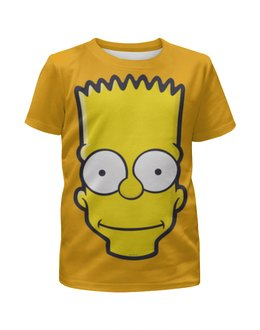 """Футболка с полной запечаткой для мальчиков """"Bart Simpson"""" - симпсоны, the simpsons, bart simpson, барт симпсон"""