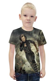 """Футболка с полной запечаткой для мальчиков """"Resident Evil"""" - обитель зла, мила йовович"""